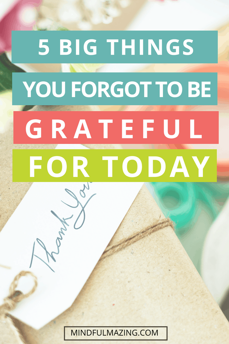 Gratitude is proven to increase our well-being. These 5 big things are so incredibly simple, yet powerful. The first one is my favourite....