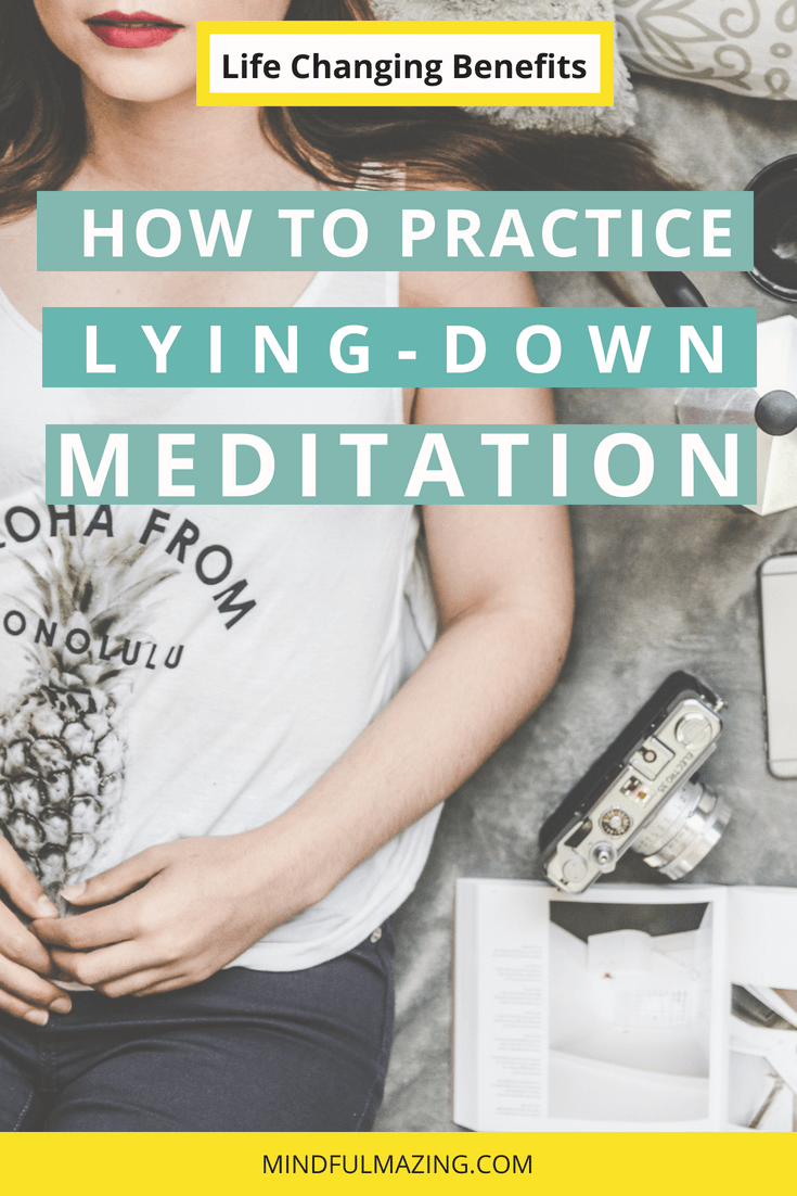 Lying Down Meditation is a great alternative to a regular meditation practice. Sometimes we just need that little extra bliss, relaxation and rest! Meditating lying down will give you just that. Try it out. You won't be sorry.