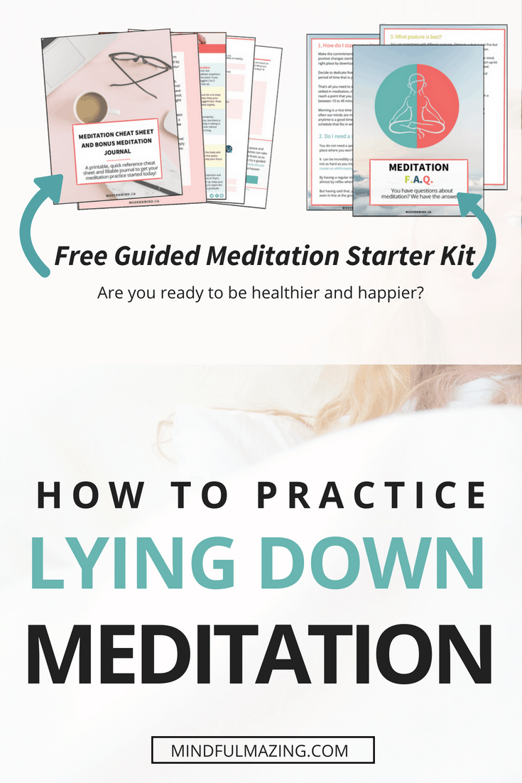 Lying down meditation can be a great alternative to a regular meditation practice. Sometimes we just need and want that deep, restful, relaxation and meditating lying down is a way to achieve that!