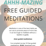 Meditation is one of the best habits we can use to level out our emotions, deal with psychological stress and promote peace of mind. It can abolish stress and replace it with a dose of inner peace. But it can be tough to meditate without a teacher or guide. Where do you begin? How do you control your wandering mind? Enter guided meditations. I've compiled my top ten free guided meditations for you to get started.