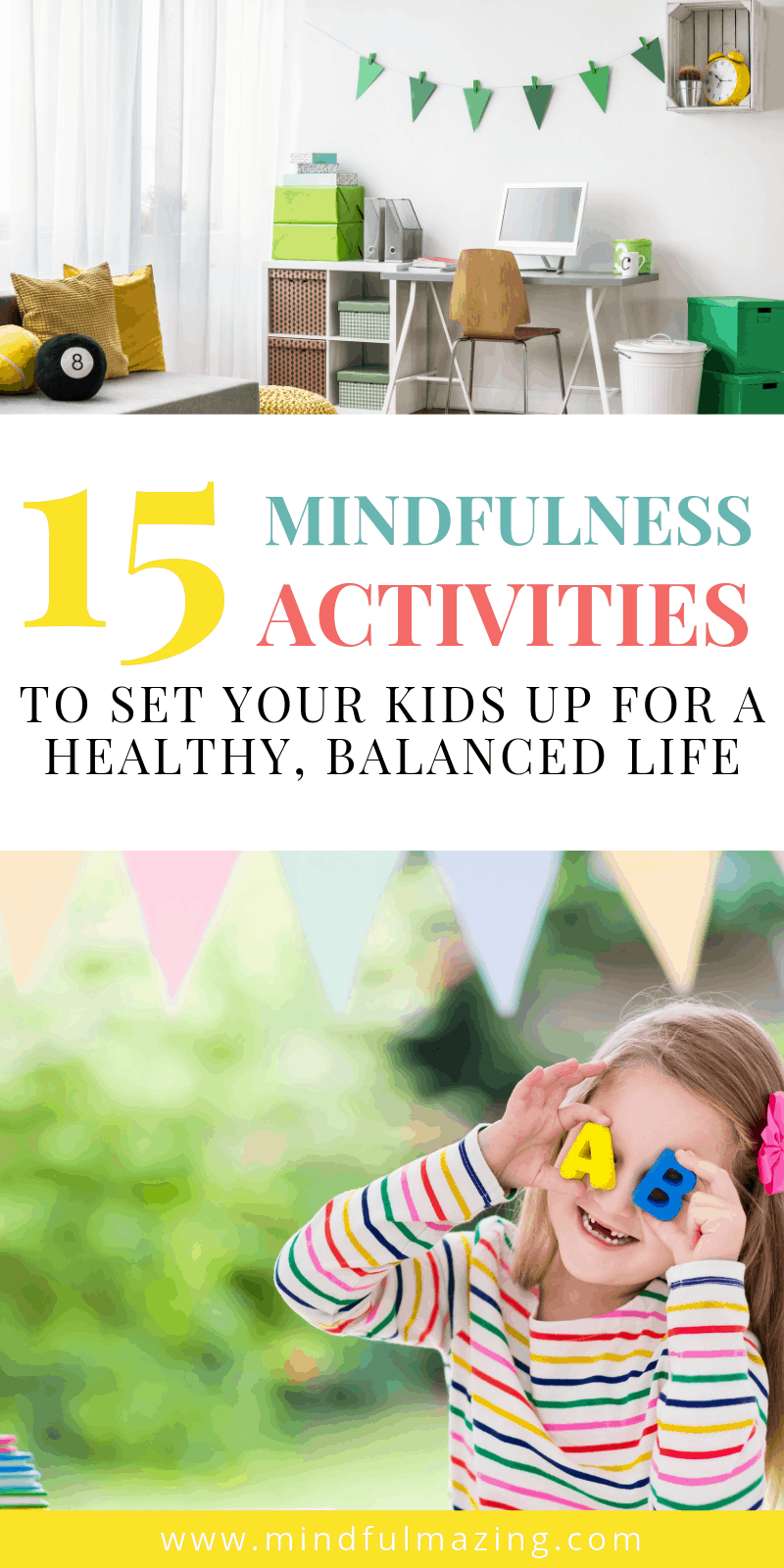 Mindfulness is a great way for kids to calm down and focus. Check out these 15 Mindfulness Exercises for kids of all ages.