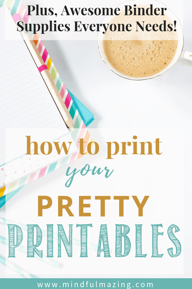 Binder supplies for your beautiful printables. For your free printables. Printables for the home. Inspirational printables!