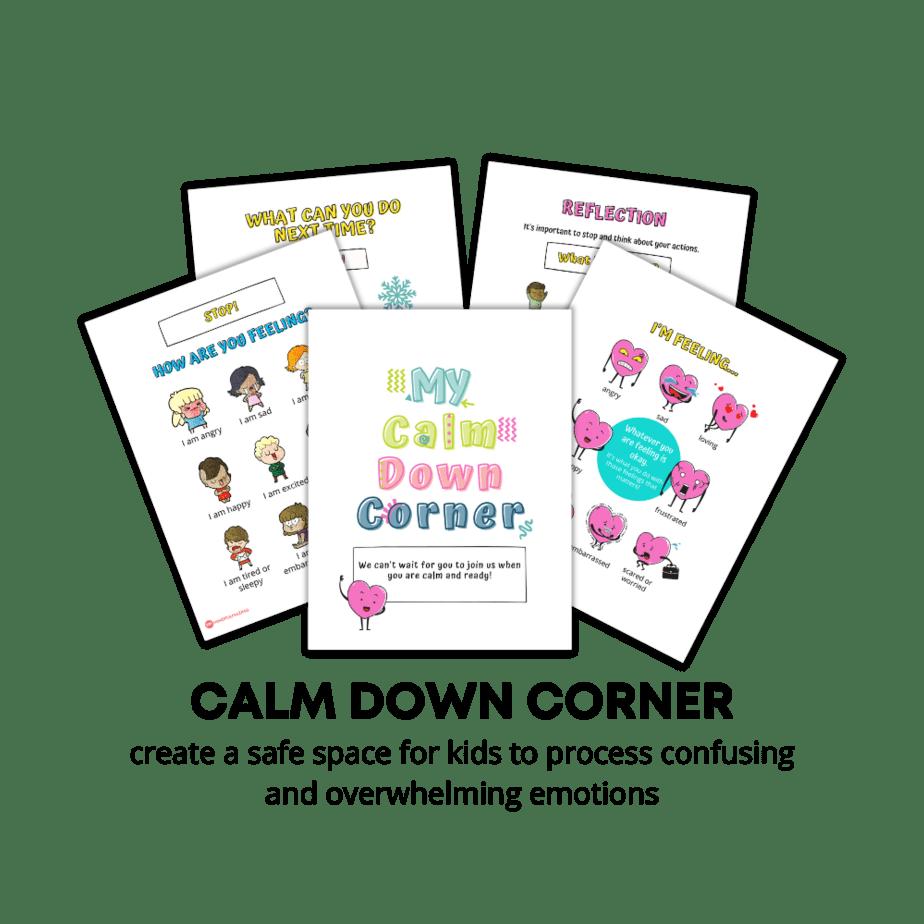 Calm down corner printables