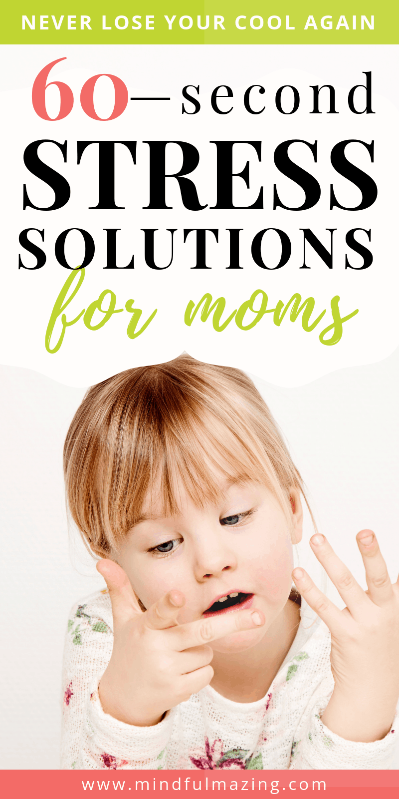 Try these three quick and simple relaxation techniques for moms to reclaim stressful moments. By investing 60-seconds of your time and focus, you can set a tone of peace and calm. #relaxationtechniques