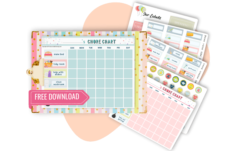 free customizable chore chart for kids