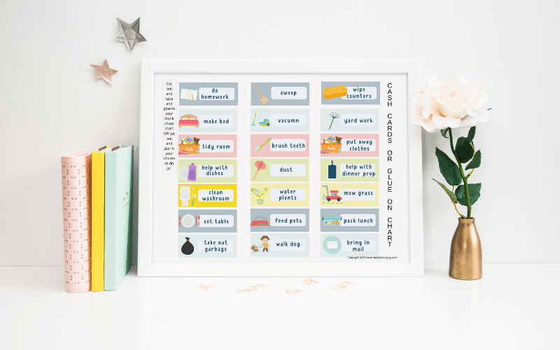 daily chore chart for kids