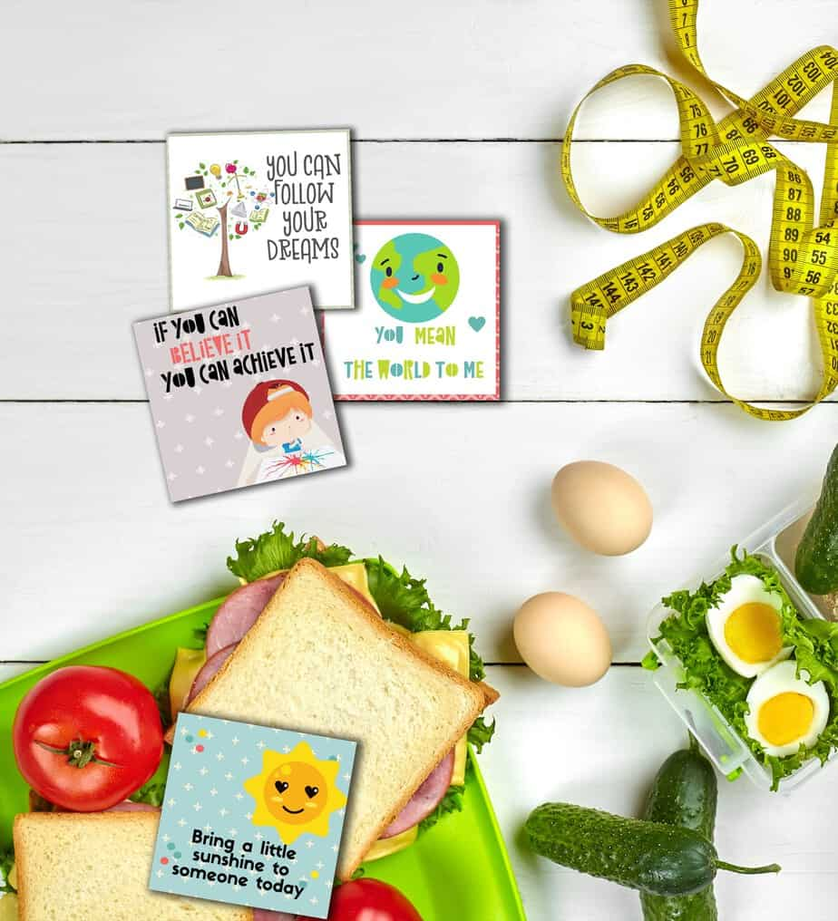 12 Sets of The Coolest FREE Lunch Box Notes Your Kids Will Go Banana's Over