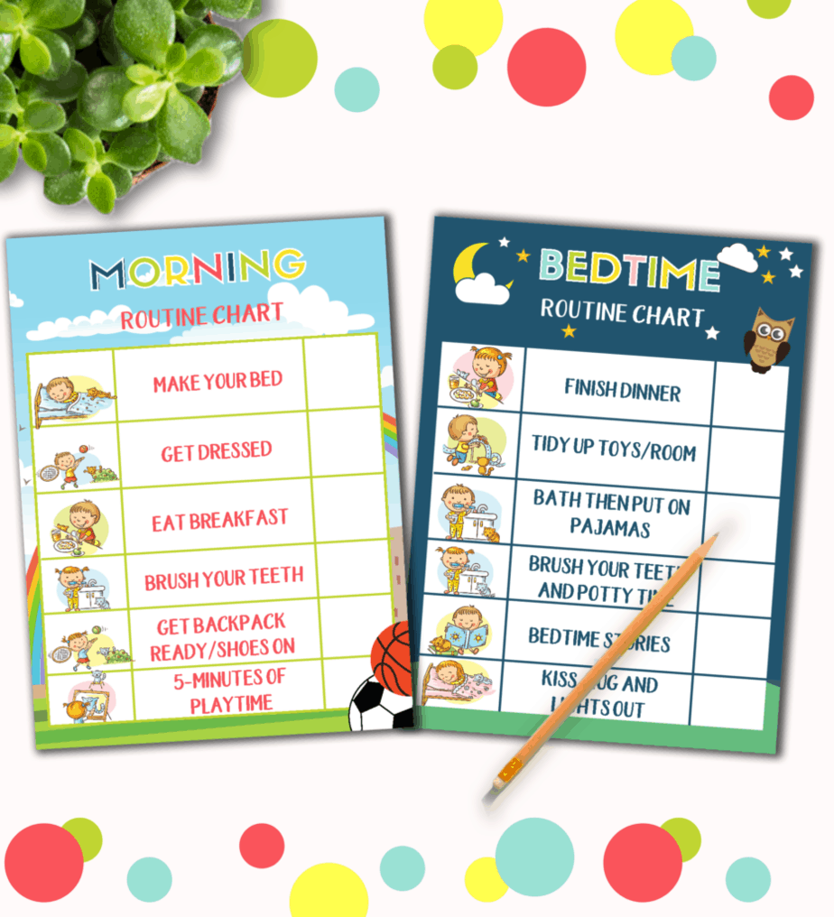Bedtime Routine Charts for Kids