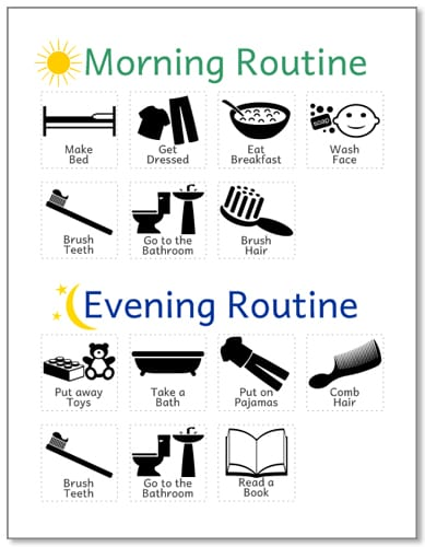 Morning Routine for Kids - Routine Charts