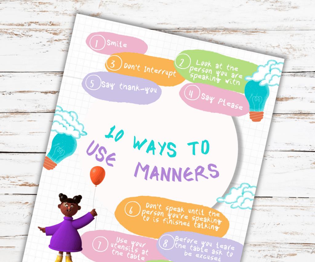 Teaching kids manners