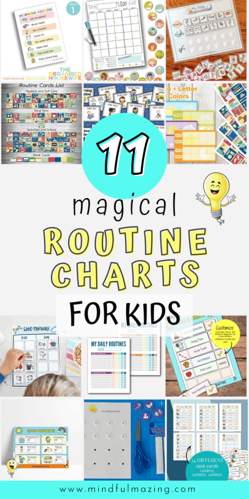 Routine Charts for Kids (Morning and evening daily charts)