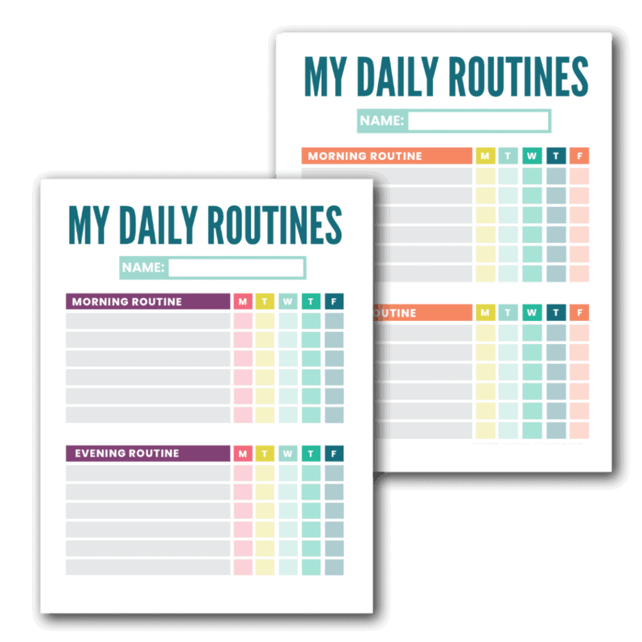 printable routine charts
