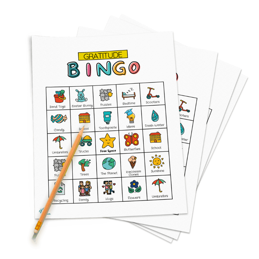 Gratitude Bingo Cards