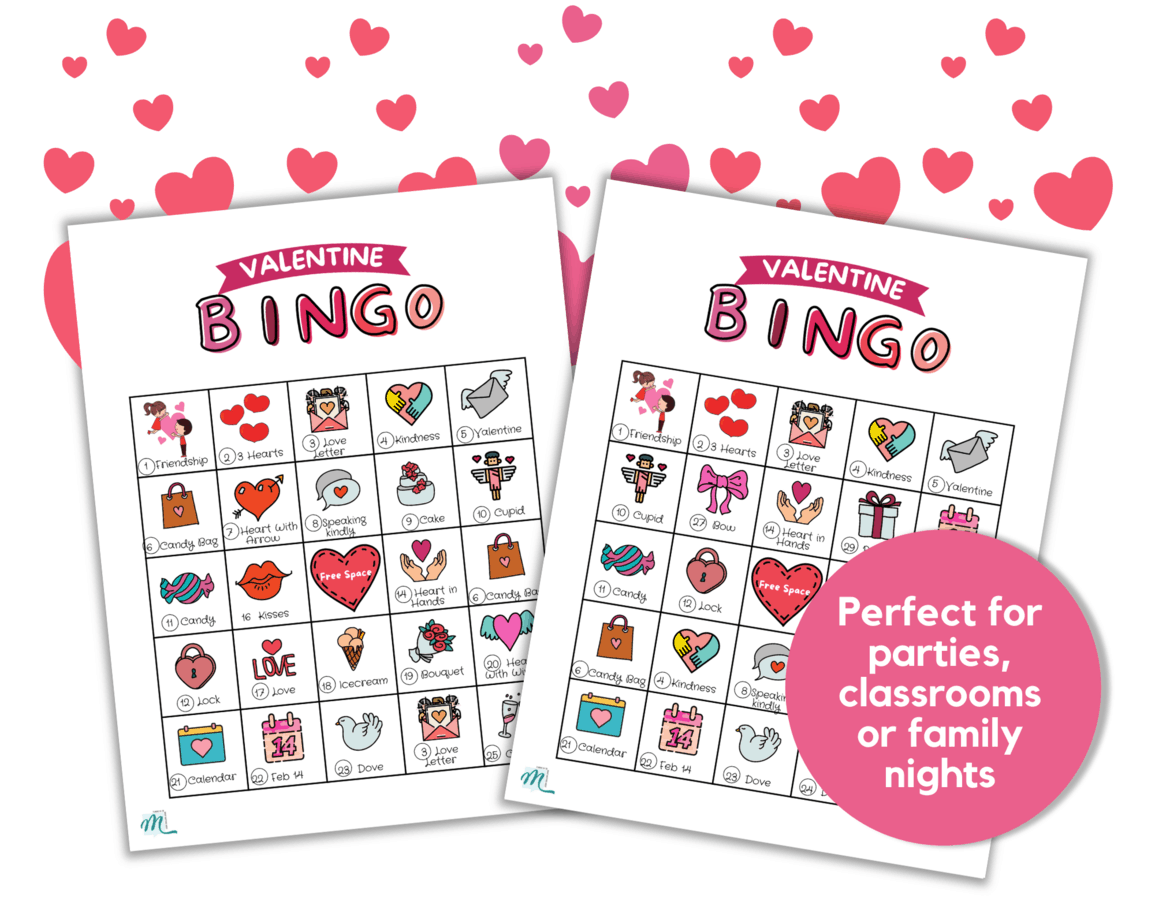 printable valentine's day bingo