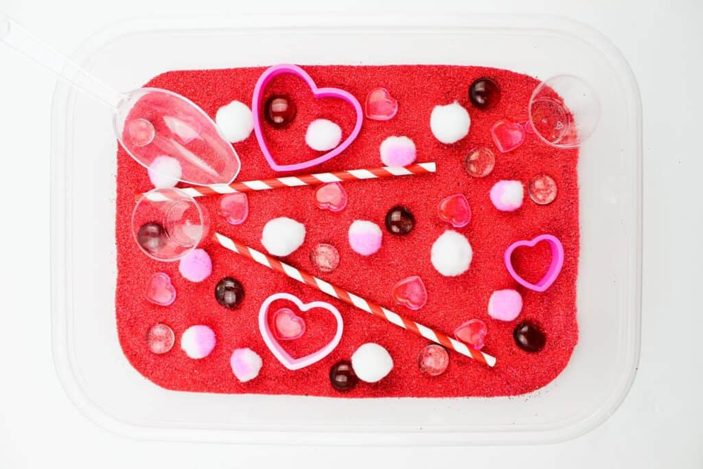 Sensory Bin for Valentine's day