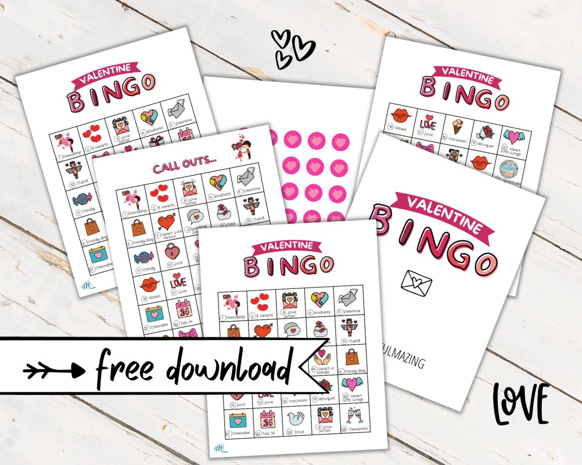 free bingo valentine's game
