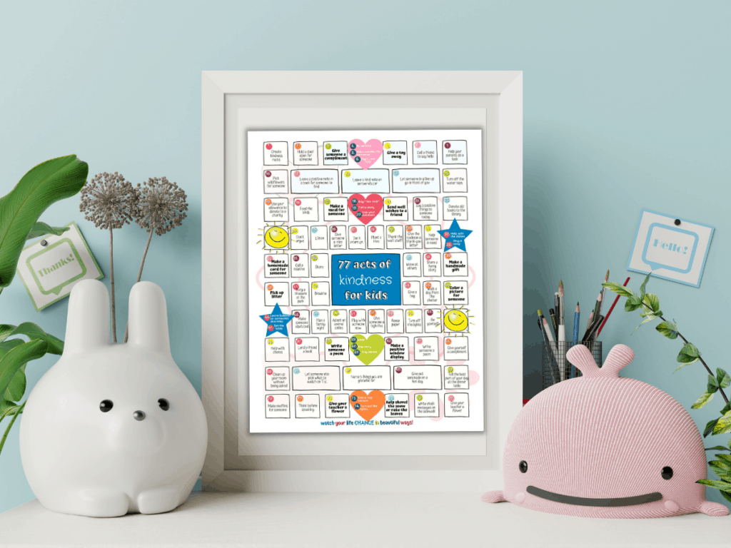 77 Acts of kindness for kids printables