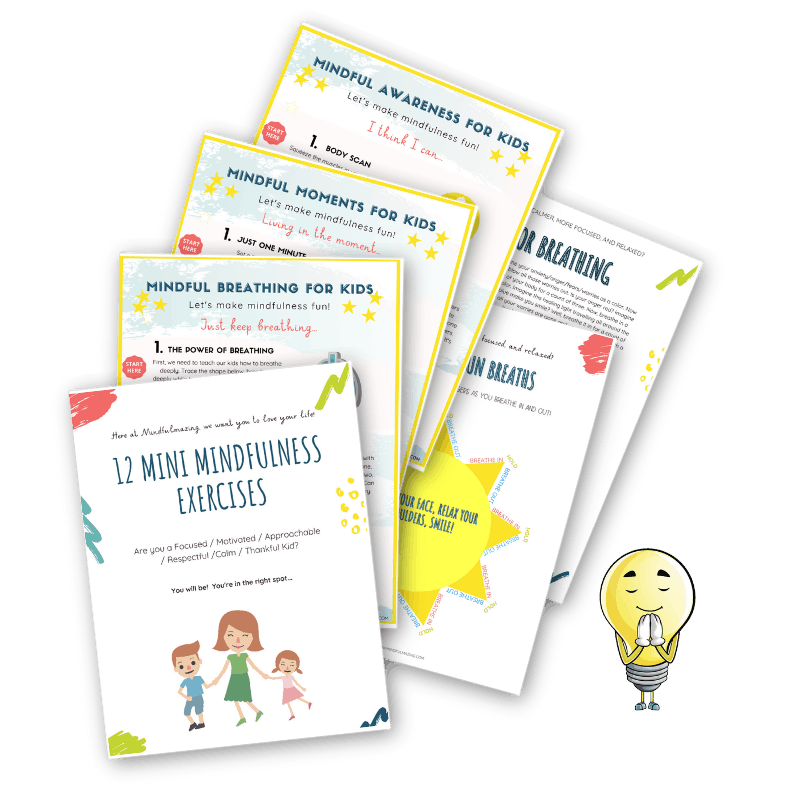Mindfulness exercises for kids - free printables