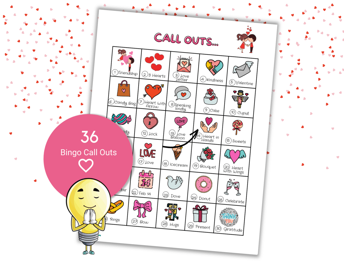 sweet valentine bingo cards
