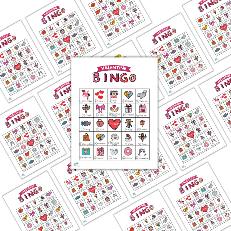 Valentine Bingo Printable To Spice up ANY Valentine's Day Party