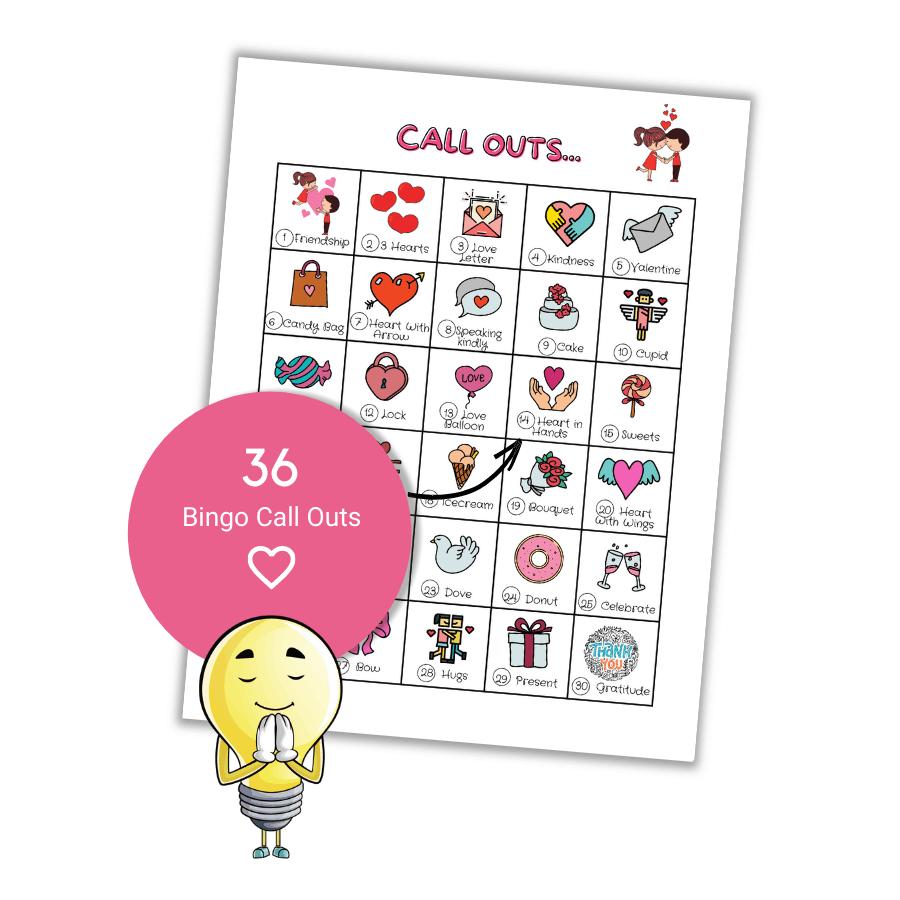 valentine's day bingo for kids
