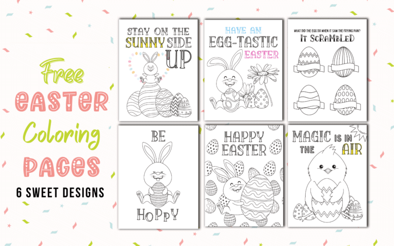 Free Printable Easter Coloring Pages (Simply Eggtastic!)