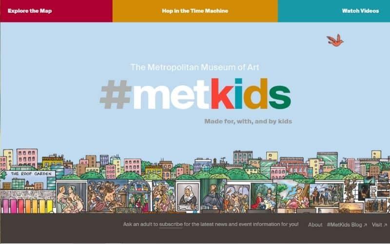 MetKids educational sites