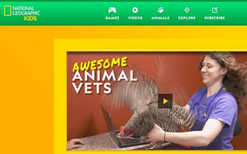 National Geographic website for kids