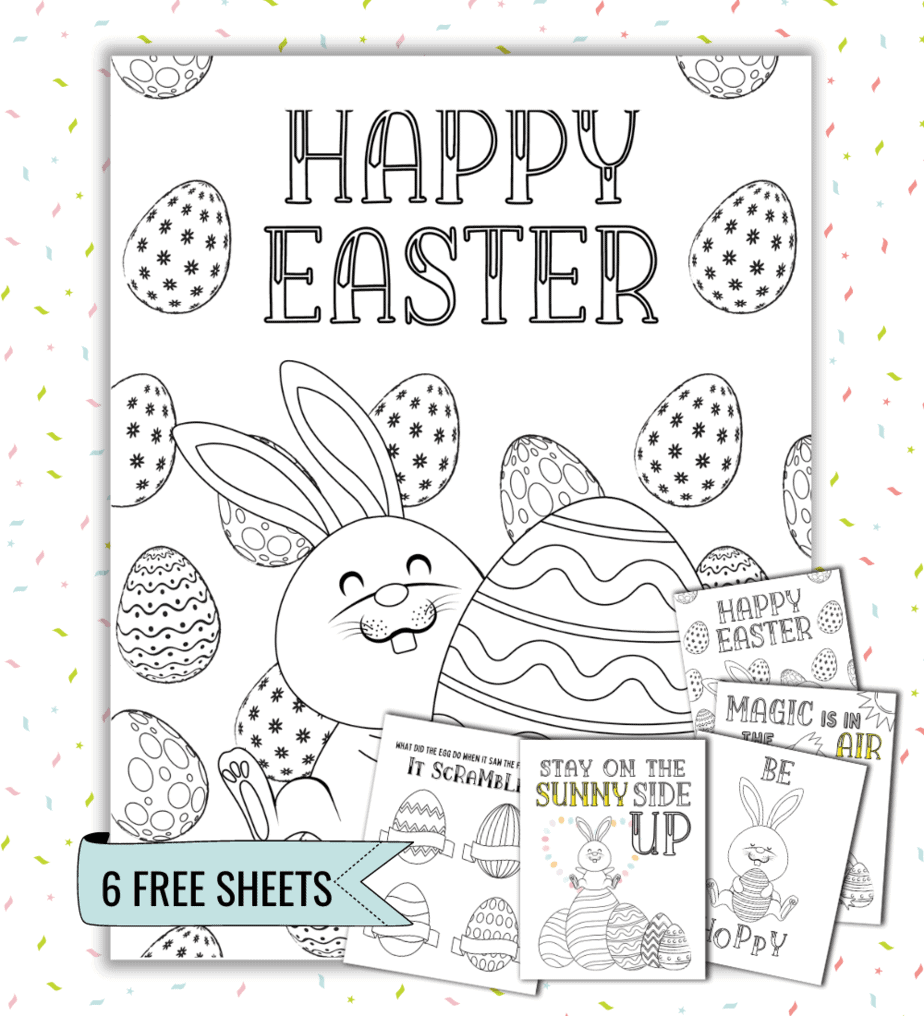 adorable free easter coloring pages
