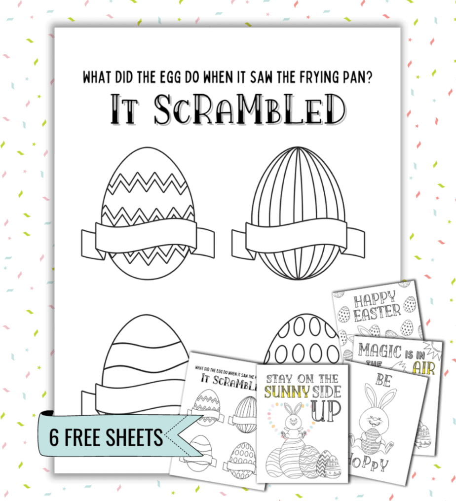 Egg coloring pages for Easter