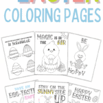 easter coloring pages free printables