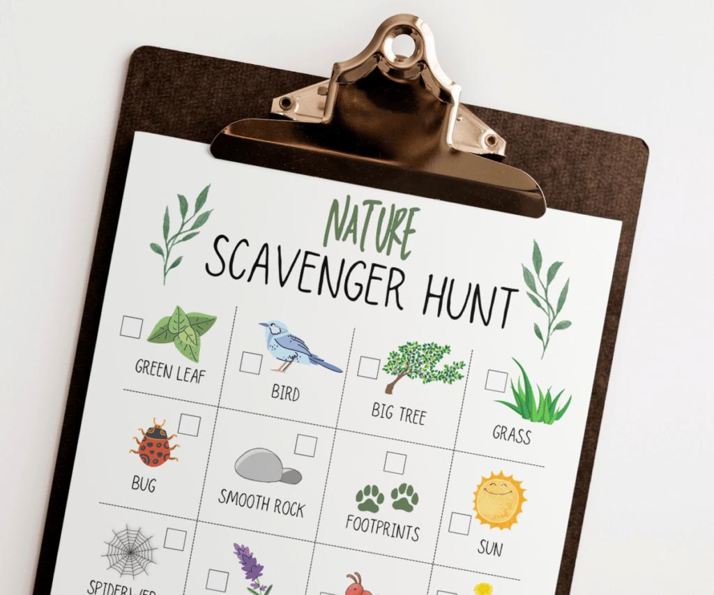 Nature Scavenger Hunt Ideas