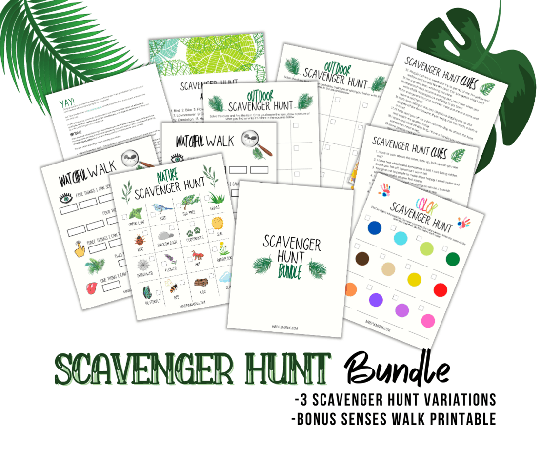 Outdoor Scavenger Hunt for Kids (With Free Printables)