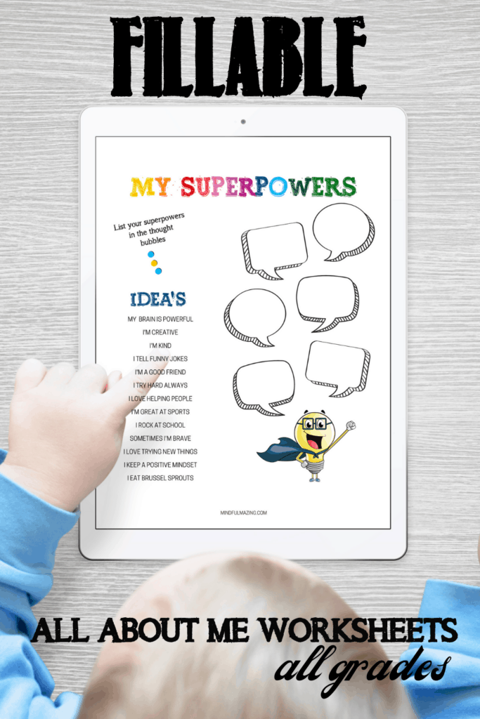 fillable all about me worksheets