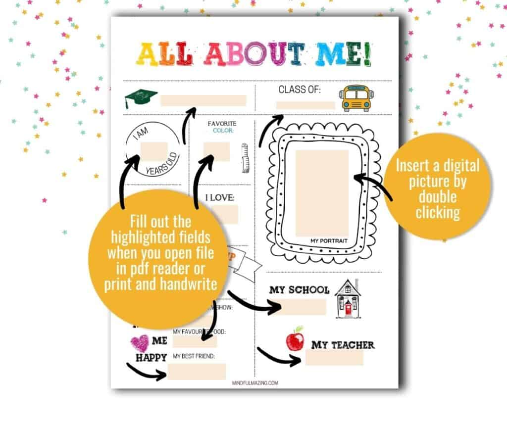 Fillable Back to School Printables