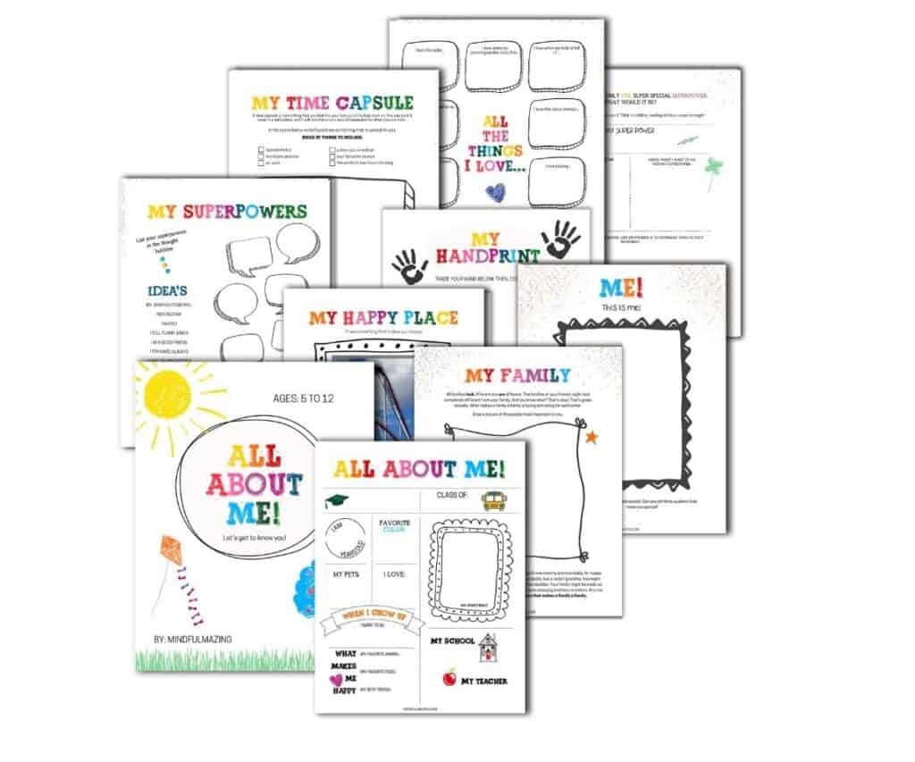 PDF All About Me Printables