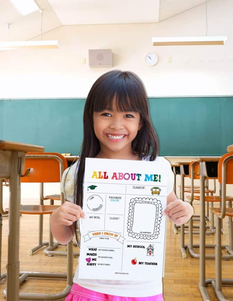 Classroom All About Me Printables