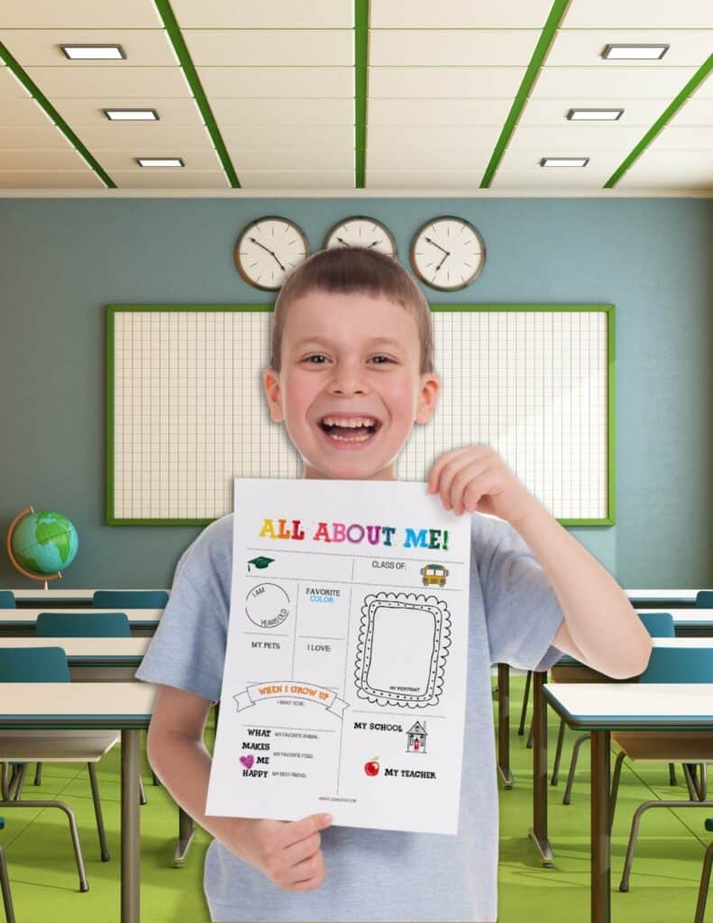 classroom all about me poster