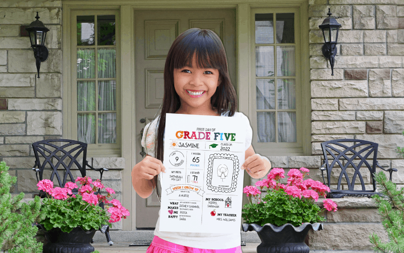FREE First Day of School Signs (Editable For All Grades)