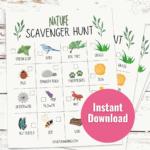 printable scavenger hunt for kids