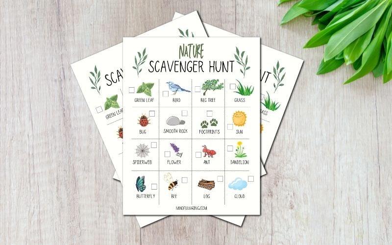 Nature Scavenger Hunt Printables