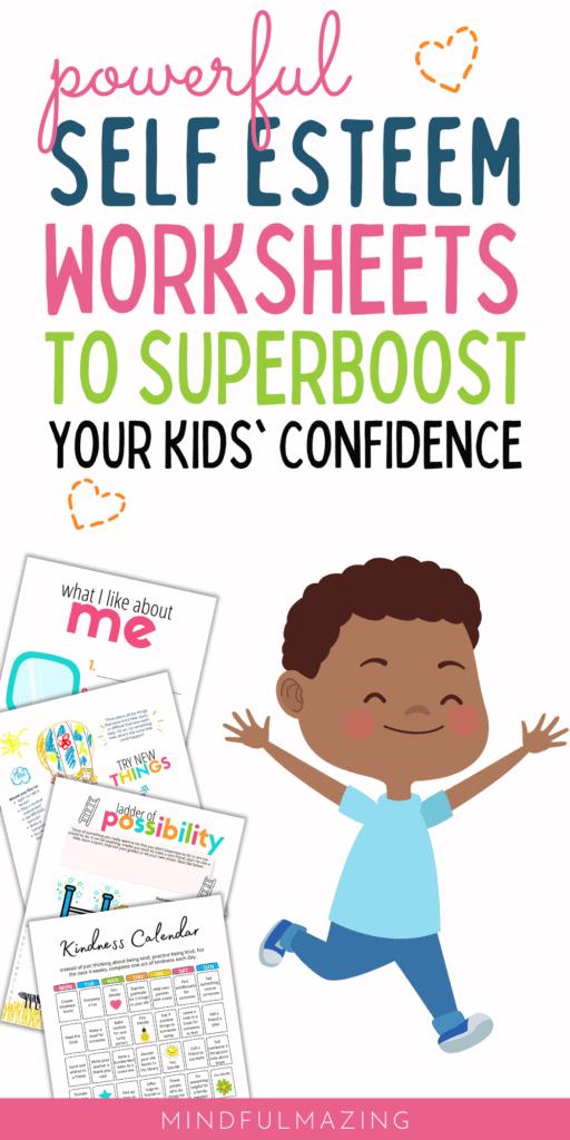 Self Esteem Worksheets for Kids