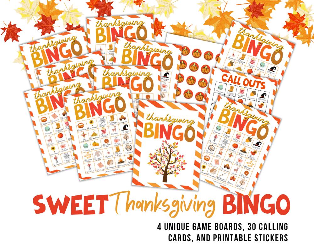 Free Thanksgiving Bingo Printable PDF