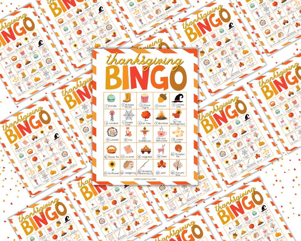 PDF Thanksgiving Bingo printable