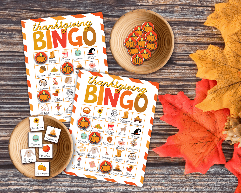 Thanksgiving bingo printable PDF